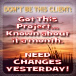 Important to schedule changes, your web designer will love you!